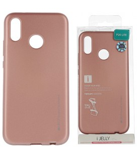 """Rausvai auksinės spalvos silikoninis dėklas Huawei P20 Lite telefonui """"Mercury iJelly Case Metal"""""""