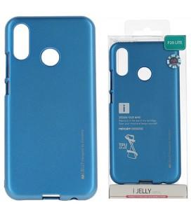 """Mėlynas silikoninis dėklas Huawei P20 Lite telefonui """"Mercury iJelly Case Metal"""""""