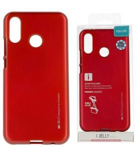 """Raudonas silikoninis dėklas Huawei P20 Lite telefonui """"Mercury iJelly Case Metal"""""""