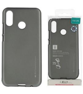 """Pilkas silikoninis dėklas Huawei P20 Lite telefonui """"Mercury iJelly Case Metal"""""""
