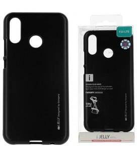 """Juodas silikoninis dėklas Huawei P20 Lite telefonui """"Mercury iJelly Case Metal"""""""