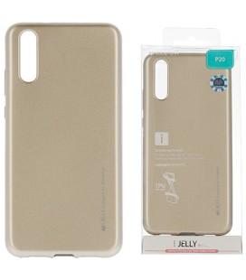 """Auksinės spalvos silikoninis dėklas Huawei P20 telefonui """"Mercury iJelly Case Metal"""""""