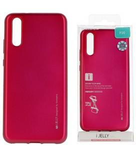 """Rožinis silikoninis dėklas Huawei P20 telefonui """"Mercury iJelly Case Metal"""""""