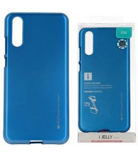 """Mėlynas silikoninis dėklas Huawei P20 telefonui """"Mercury iJelly Case Metal"""""""