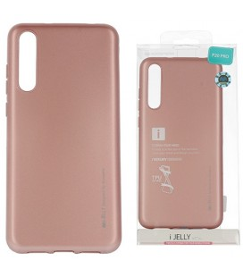 """Rausvai auksinės spalvos silikoninis dėklas Huawei P20 Pro telefonui """"Mercury iJelly Case Metal"""""""