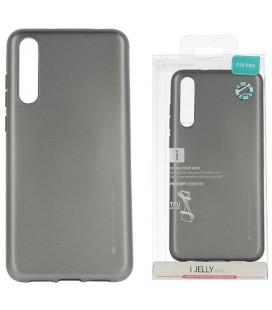 """Pilkas silikoninis dėklas Huawei P20 Pro telefonui """"Mercury iJelly Case Metal"""""""