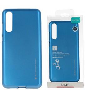 """Mėlynas silikoninis dėklas Huawei P20 Pro telefonui """"Mercury iJelly Case Metal"""""""