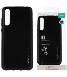"""Juodas silikoninis dėklas Huawei P20 Pro telefonui """"Mercury iJelly Case Metal"""""""