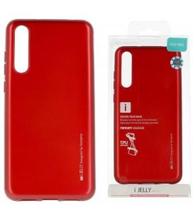 """Raudonas silikoninis dėklas Huawei P20 Pro telefonui """"Mercury iJelly Case Metal"""""""