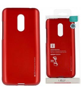 """Raudonas silikoninis dėklas Xiaomi Redmi 5 Plus telefonui """"Mercury iJelly Case Metal"""""""