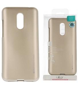 """Auksinės spalvos silikoninis dėklas Xiaomi Redmi 5 Plus telefonui """"Mercury iJelly Case Metal"""""""