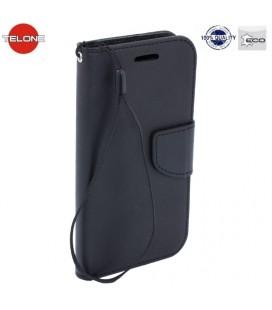 """Juodas atverčiamas dėklas Huawei P20 Lite telefonui """"Telone Fancy"""""""