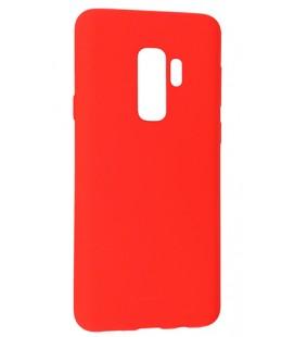 """Raudonas silikoninis dėklas Samsung Galaxy S9 Plus telefonui """"Mercury Soft Feeling"""""""