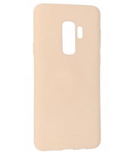 """Smėlio spalvos silikoninis dėklas Samsung Galaxy S9 Plus telefonui """"Mercury Soft Feeling"""""""