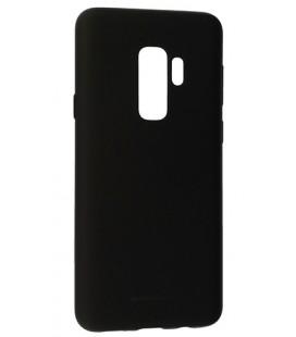 """Juodas silikoninis dėklas Samsung Galaxy S9 Plus telefonui """"Mercury Soft Feeling"""""""