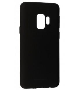 """Juodas silikoninis dėklas Samsung Galaxy S9 telefonui """"Mercury Soft Feeling"""""""