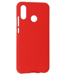 """Raudonas silikoninis dėklas Huawei P20 Lite telefonui """"Mercury Soft Feeling"""""""