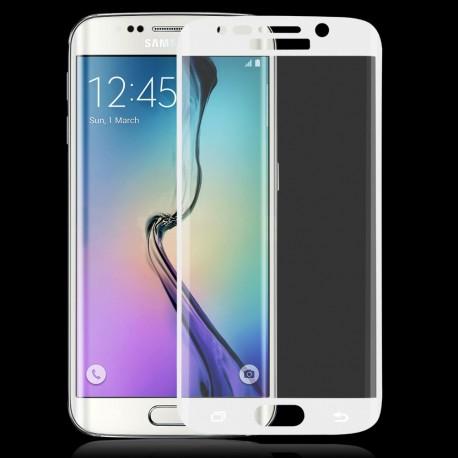 Apsauginis grūdintas stiklas su rėmeliu juodas Samsung Galaxy S6 Edge telefonui