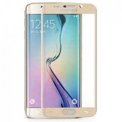 Apsauginis grūdintas stiklas su rėmeliu baltas Samsung Galaxy S6 Edge telefonui