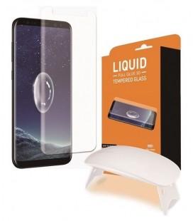 """Lenktas juodas apsauginis grūdintas stiklas Samsung Galaxy S9 Plus telefonui """"T-Max UV"""""""