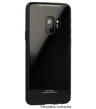"""Juodas dėklas Samsung Galaxy S8 telefonui """"Glass Case"""""""