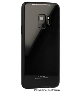 "Juodas dėklas Huawei P Smart telefonui ""Glass Case"""