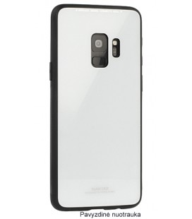 """Baltas dėklas Samsung Galaxy S9 telefonui """"Glass Case"""""""