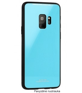 """Mėlynas dėklas Samsung Galaxy S9 telefonui """"Glass Case"""""""