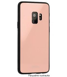 """Rožinis dėklas Samsung Galaxy S9 telefonui """"Glass Case"""""""