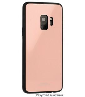 "Rožinis dėklas Samsung Galaxy S9 Plus telefonui ""Glass Case"""