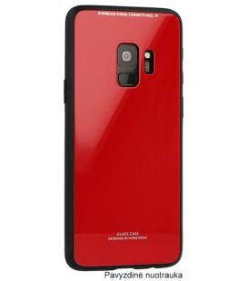 """Raudonas dėklas Samsung Galaxy S9 Plus telefonui """"Glass Case"""""""