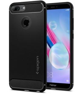 """Juodas dėklas Huawei Honor 9 Lite telefonui """"Spigen Rugged Armor"""""""