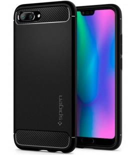 """Juodas dėklas Huawei Honor 10 telefonui """"Spigen Rugged Armor"""""""
