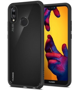 "Juodas dėklas Huawei P20 Lite telefonui ""Spigen Ultra Hybrid"""