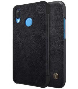 """Odinis juodas atverčiamas dėklas Huawei P20 Lite telefonui """"Nillkin Qin"""""""