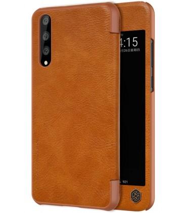 """Odinis rudas atverčiamas dėklas Huawei P20 Pro telefonui """"Nillkin Qin"""""""