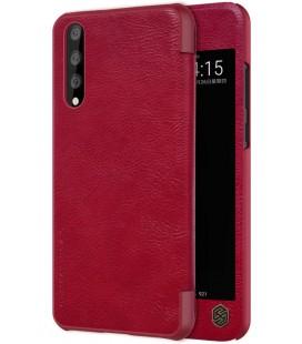 """Odinis raudonas atverčiamas dėklas Huawei P20 Pro telefonui """"Nillkin Qin S-View"""""""