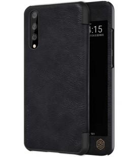 """Odinis juodas atverčiamas dėklas Huawei P20 Pro telefonui """"Nillkin Qin S-View"""""""