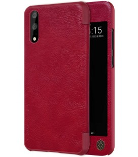 """Odinis raudonas atverčiamas dėklas Huawei P20 telefonui """"Nillkin Qin S-View"""""""