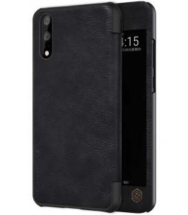 """Odinis juodas atverčiamas dėklas Huawei P20 telefonui """"Nillkin Qin S-View"""""""