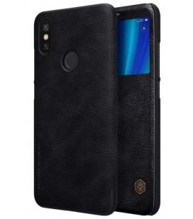 """Odinis juodas atverčiamas dėklas Xiaomi Mi 6X (Mi A2) telefonui """"Nillkin Qin S-View"""""""