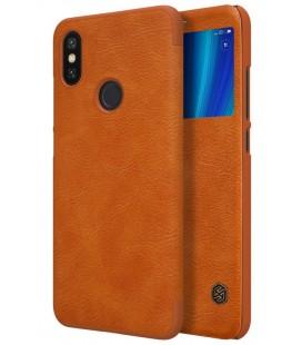 """Odinis rudas atverčiamas dėklas Xiaomi Mi 6X (Mi A2) telefonui """"Nillkin Qin S-View"""""""