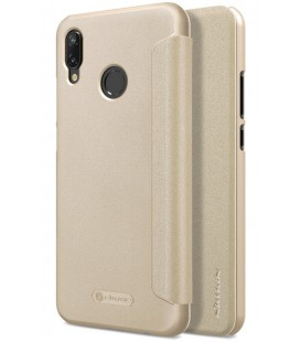 """Atverčiamas auksinės spalvos dėklas Huawei P20 Lite telefonui """"Nillkin Sparkle"""""""