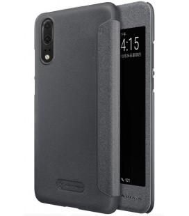 """Atverčiamas pilkas dėklas Huawei P20 telefonui """"Nillkin Sparkle S-View"""""""