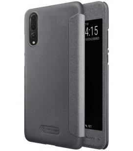 """Atverčiamas pilkas dėklas Huawei P20 Pro telefonui """"Nillkin Sparkle S-View"""""""