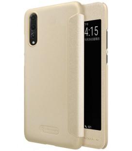 """Atverčiamas auksinės spalvos dėklas Huawei P20 Pro telefonui """"Nillkin Sparkle S-View"""""""