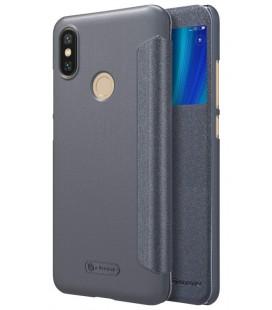 """Atverčiamas pilkas dėklas Xiaomi Mi 6X (Mi A2) telefonui """"Nillkin Sparkle S-View"""""""