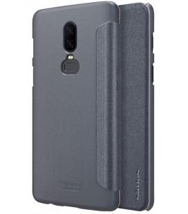 """Atverčiamas pilkas dėklas Oneplus 6 telefonui """"Nillkin Sparkle"""""""