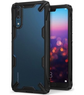 """Juodas dėklas Huawei P20 telefonui """"Ringke Fusion X"""""""