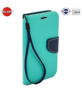 """Mėtos spalvos atverčiamas dėklas Huawei P Smart telefonui """"Telone Fancy"""""""